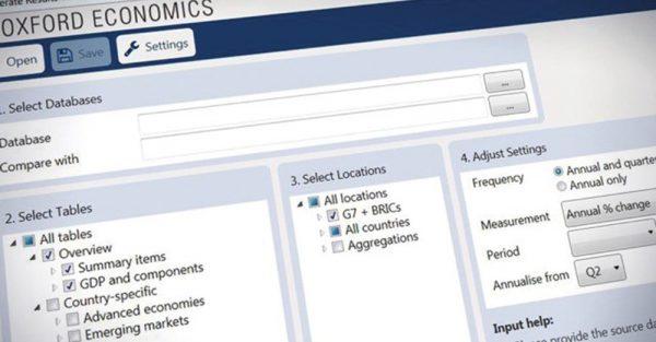 "Daten statt raten: Einblicke in die ""Workstation"" des Oxford Global Economic Model."